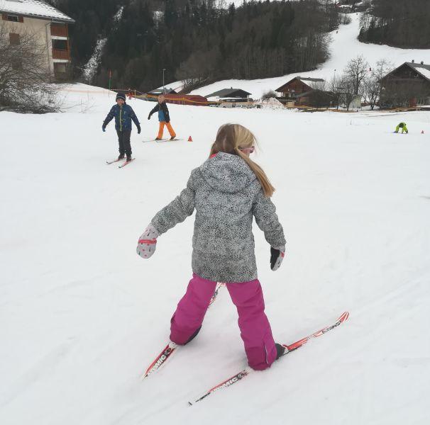 ski de fond en primaire - école privée - Bellevaux